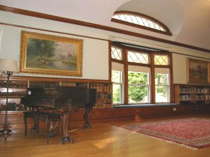 Community Room with piano at the West Falmouth Library