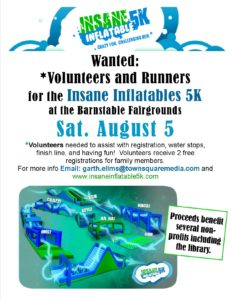Volunteers Needed for Insane Inflatable 5K