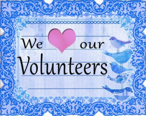 In appreciation of the volunteers at WFL