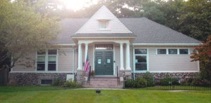 West Falmouth Library from Rte. 28A