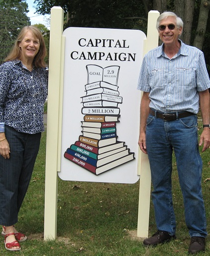 capital campaign sign mel + mike