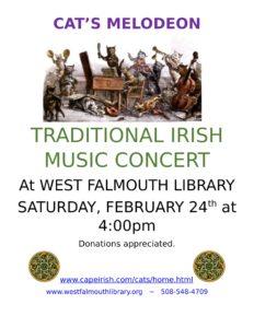 """Cat's Melodeon"" - Traditional Irish music concert"
