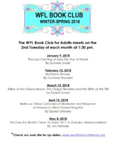 WFL Book Club Spring Winter/Spring Schedule